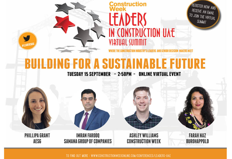 Speakers for the Leaders UAE's Building for a Sustainable Future panel have been confirmed