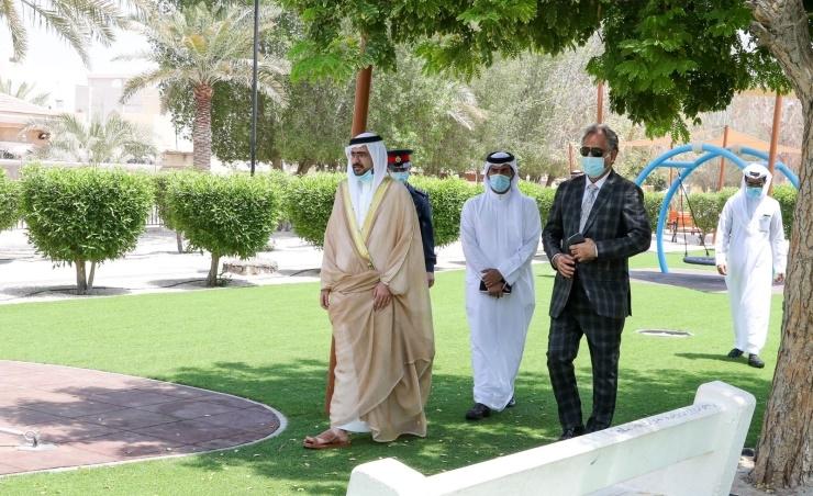 HH Shaikh Khalifa bin Ali bin Khalifa Al-Khalifa in Riffa.
