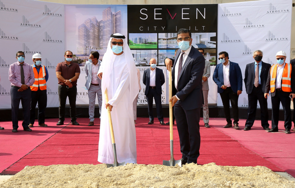 Ground being broken on Seven City JLT project.