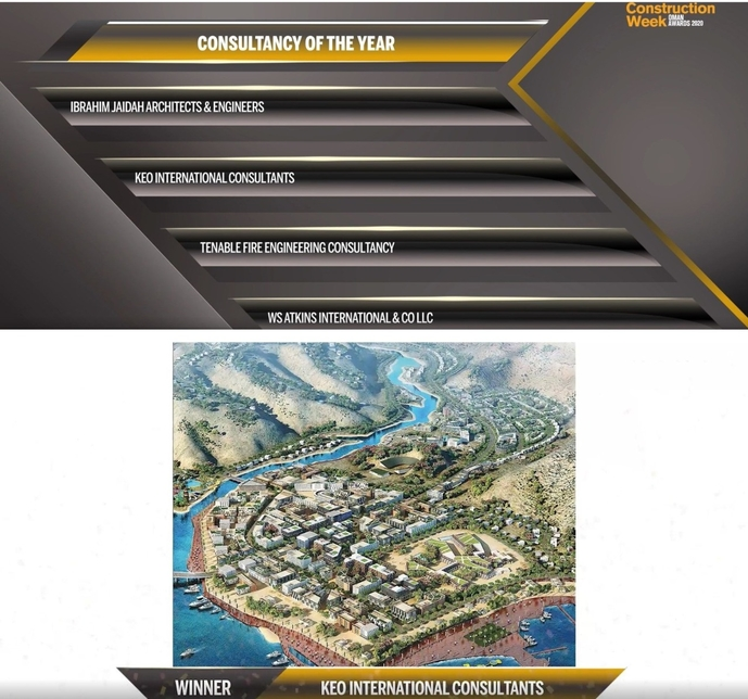 KEO International Consultant's are this year's Consultancy of the Year at the CW Oman Awards