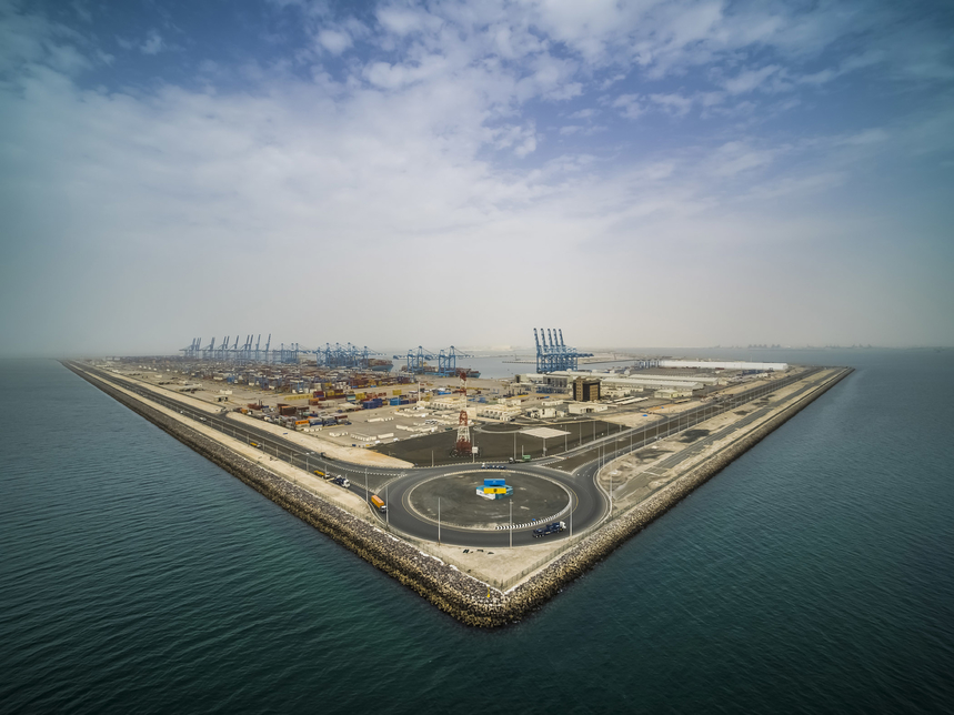 Construction on the Khalifa Port Expansion project on track