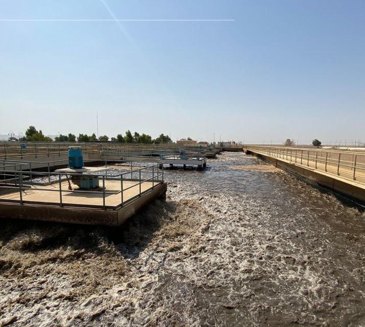 Sewage treatment plant in Tabuk city