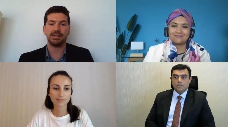 AESG's Phillipa Grant, Burohappold's Farah Naz, and Samana Group's Imran Farooq speak with Ashley Williams