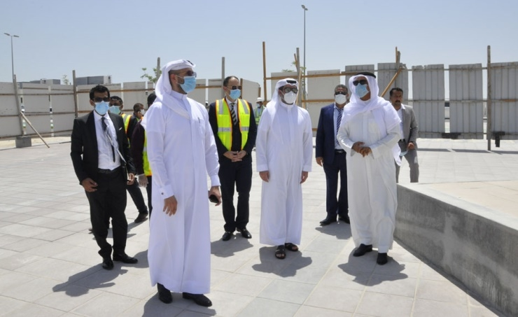 Minister of Housing, Bassem bin Yacoub Al Hamar visited the project's site.