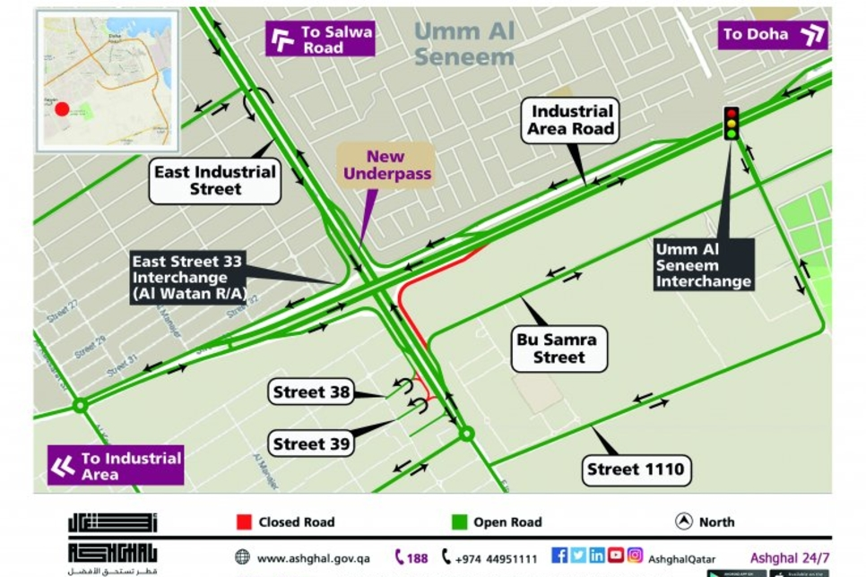 Ashghal opens new underpass in Doha