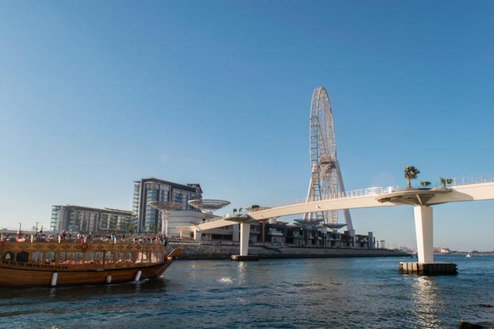 Pedestrian bridge on Dubai's $1.6bn Bluewaters Island completed