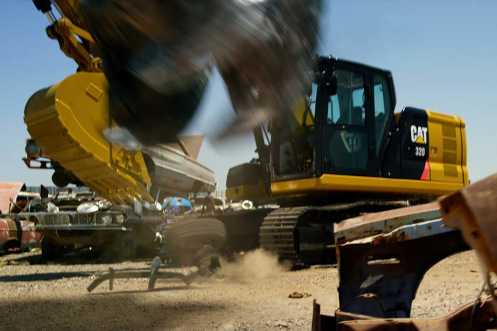 Caterpillar excavator appears in latest Transformers movie