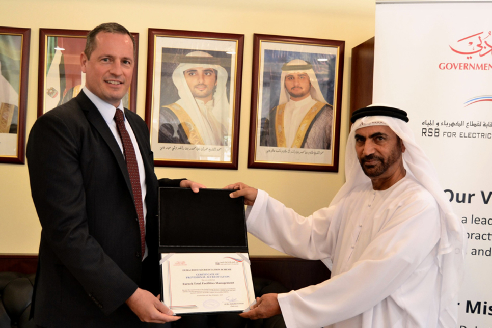 UAE FM firm Farnek awarded ESCO credentials