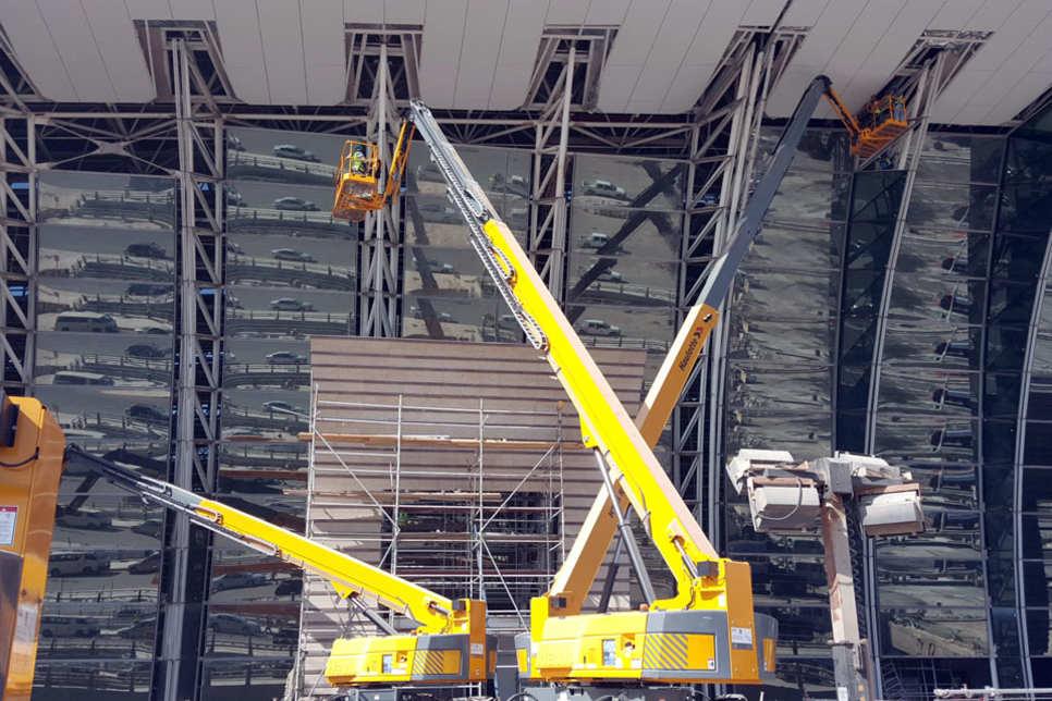 Haulotte boom and scissor lifts assist Saudi airport expansion work