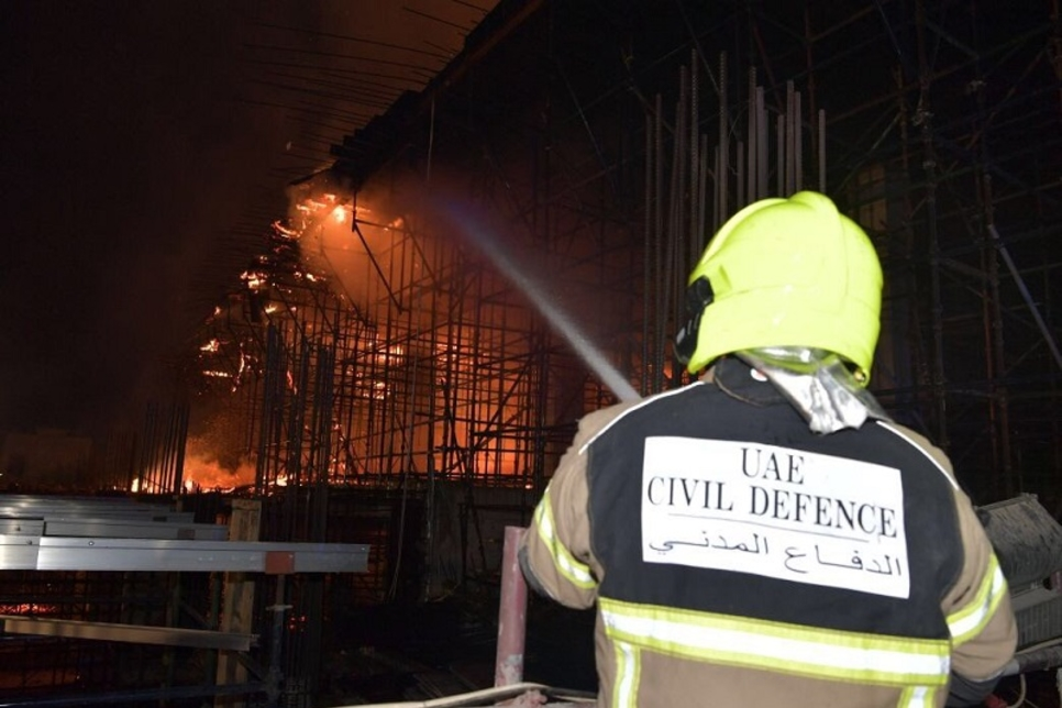 Fire contained at Jumeirah construction site in Dubai