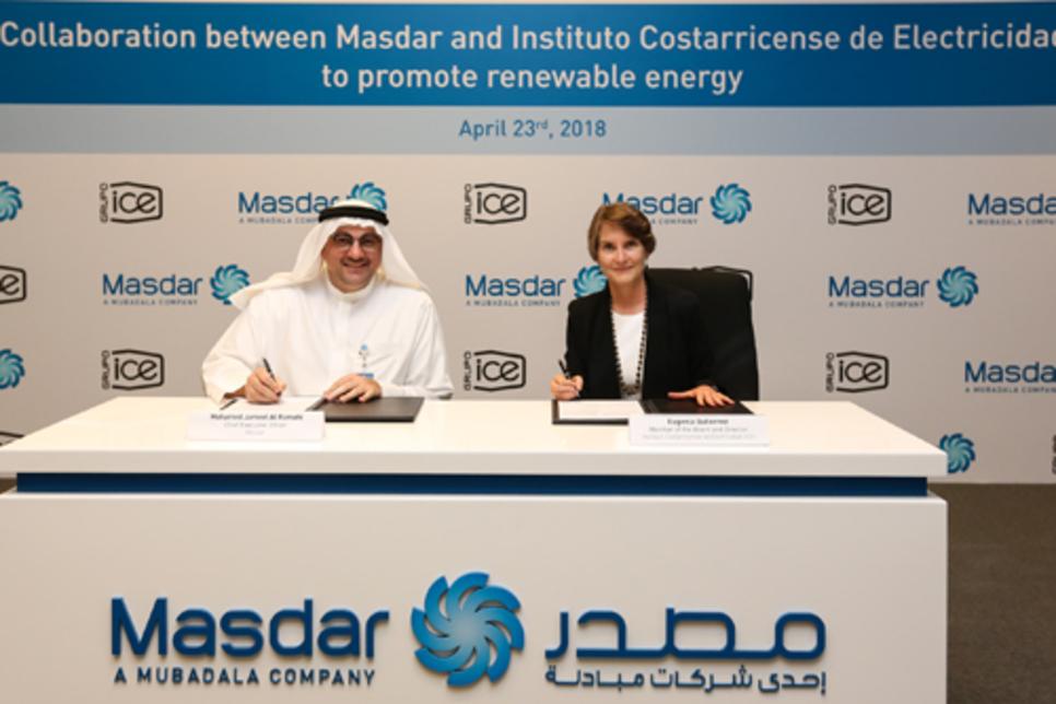 Masdar pens clean energy Costa Rica deal