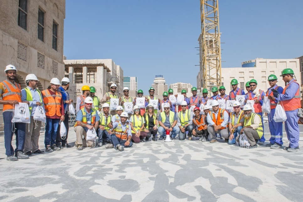 NFT and Potain spread tower crane safety message in the GCC