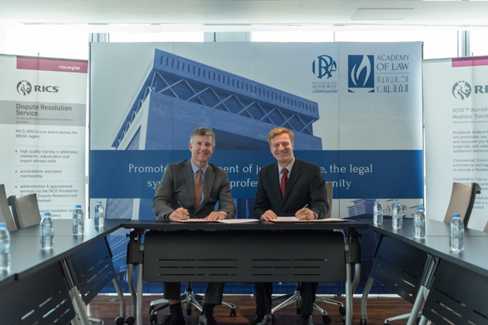 UAE: RICS partners with DIFC Academy of Law