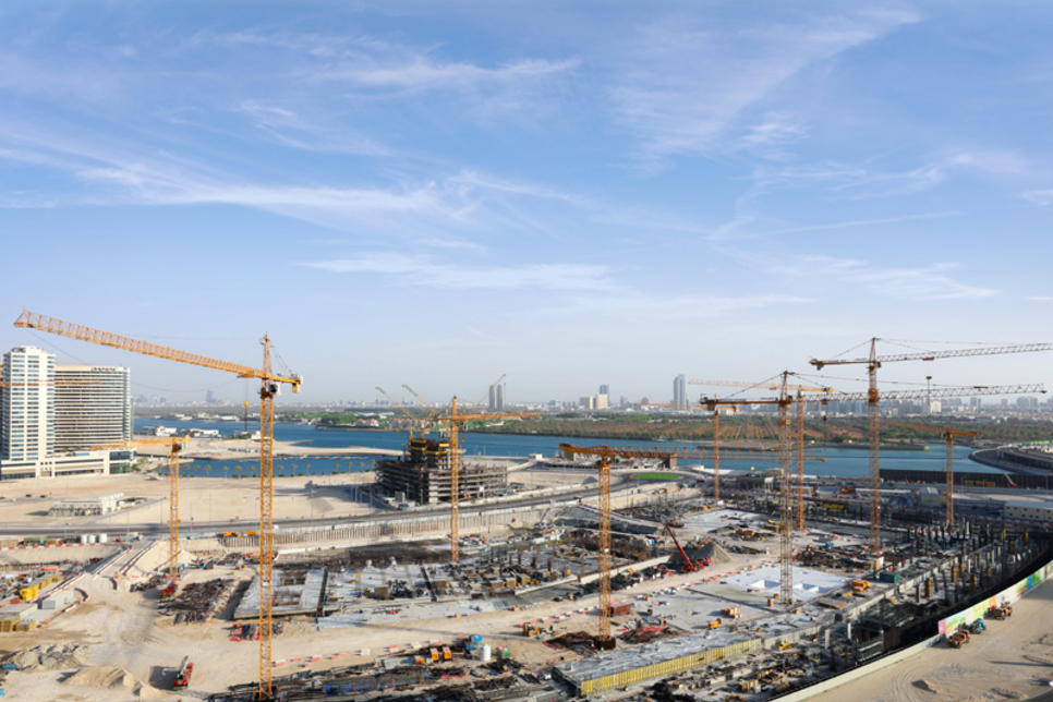 Cranes installed at construction site of Abu Dhabi's $1.2bn Reem Mall