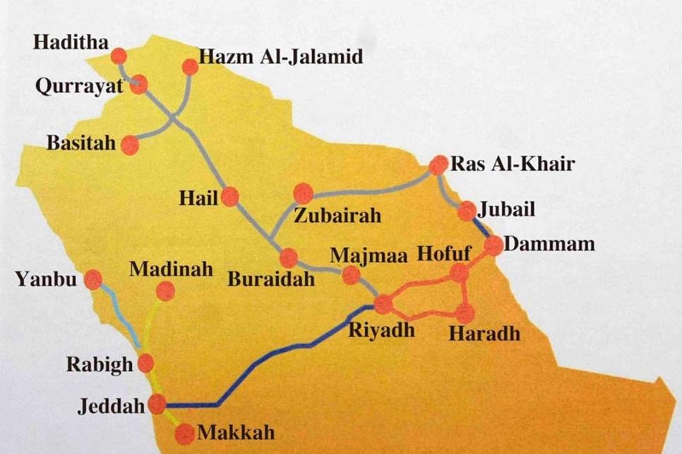 Saudi Arabia tests rail link from Riyadh to border