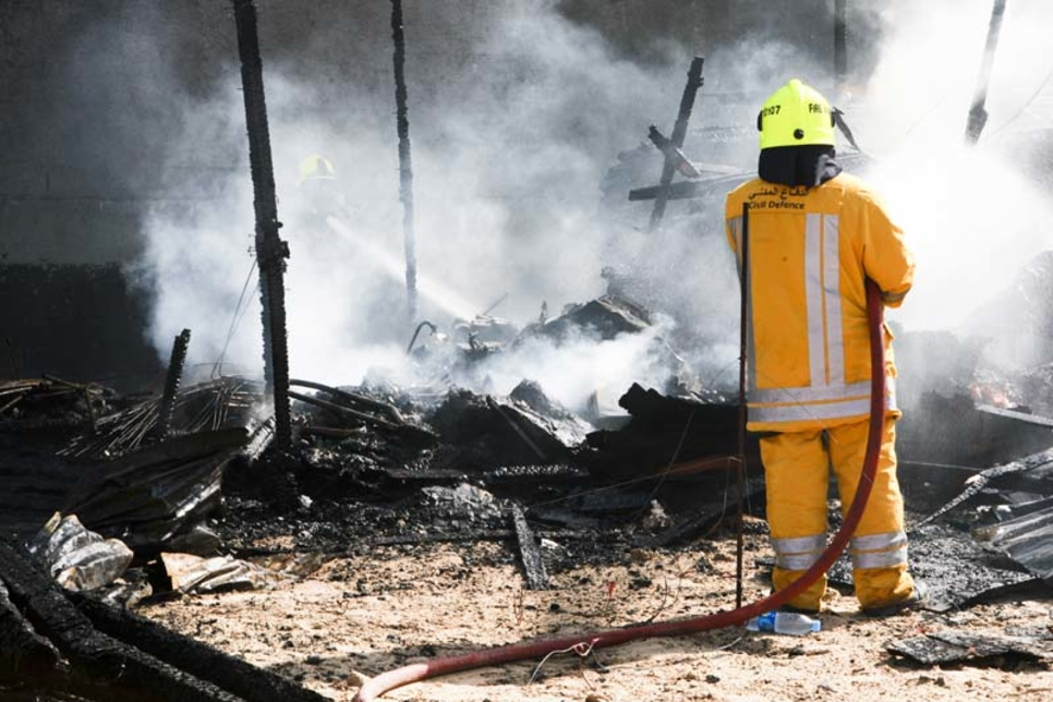 Warehouse fire contained in Sharjah Industrial Area