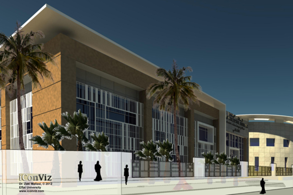 Effat University library on schedule to complete