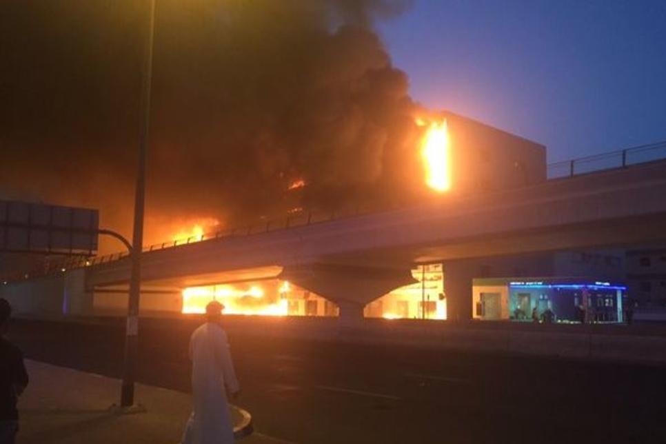 Five-hour Deira fire suspends Dubai Metro