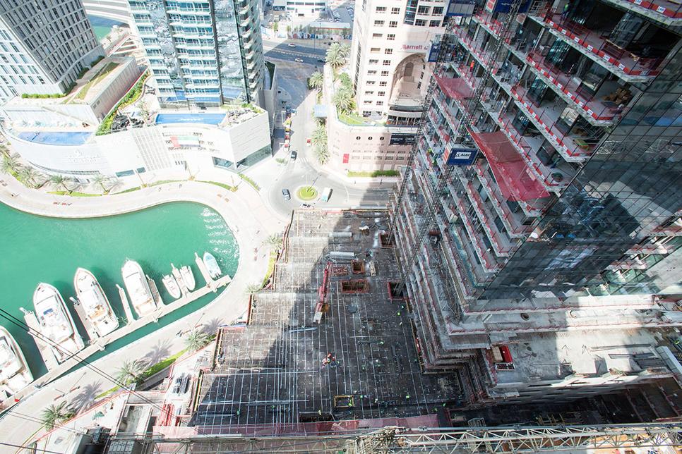 ALEC deploys robotics to build Dubai's $1bn Marina Gate