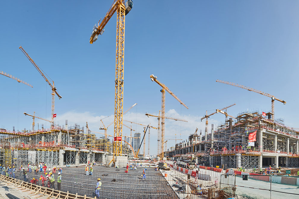 Construction site tour with Meydan One Mall's architect in Dubai