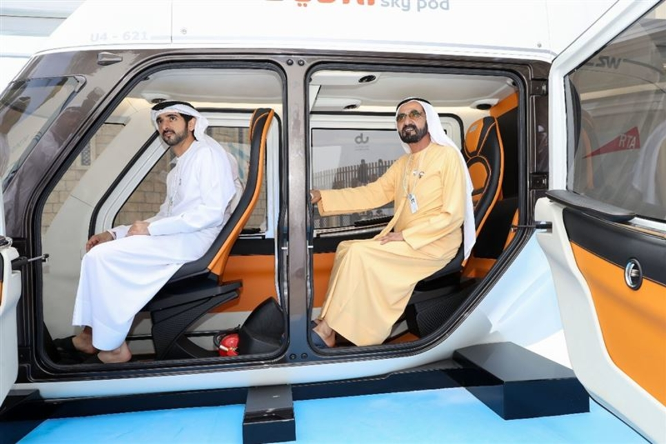 HH Sheikh Mohammed reviews Sky Pods at World Gov Summit in Dubai