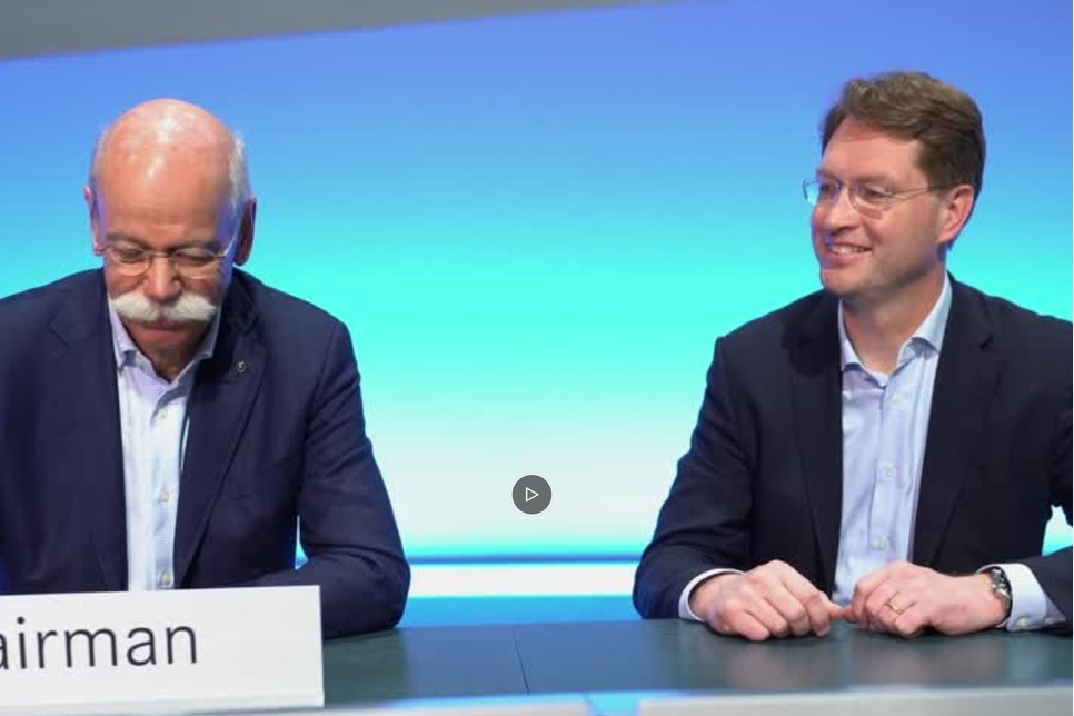 Cute video shows leadership change at Daimler AG, Mercedes-Benz
