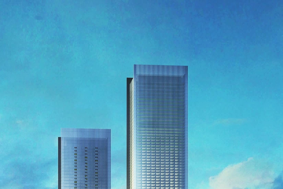 The 7,100 tonne structure will be lifted 100m into the air to its final position connecting One Za'abeel's two towers