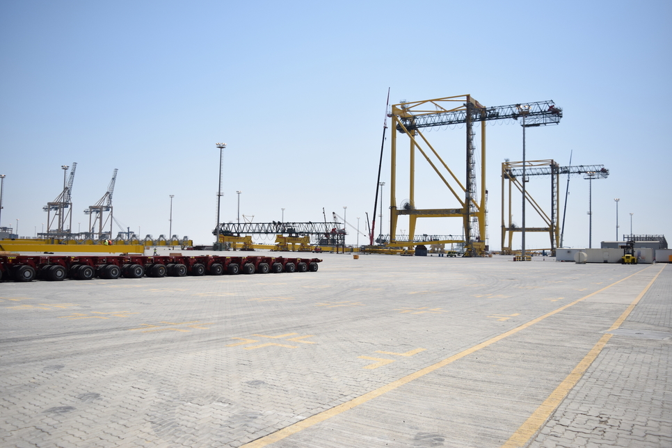 Saudi Arabia's King Abdullah Port receives 28 Liebherr cranes