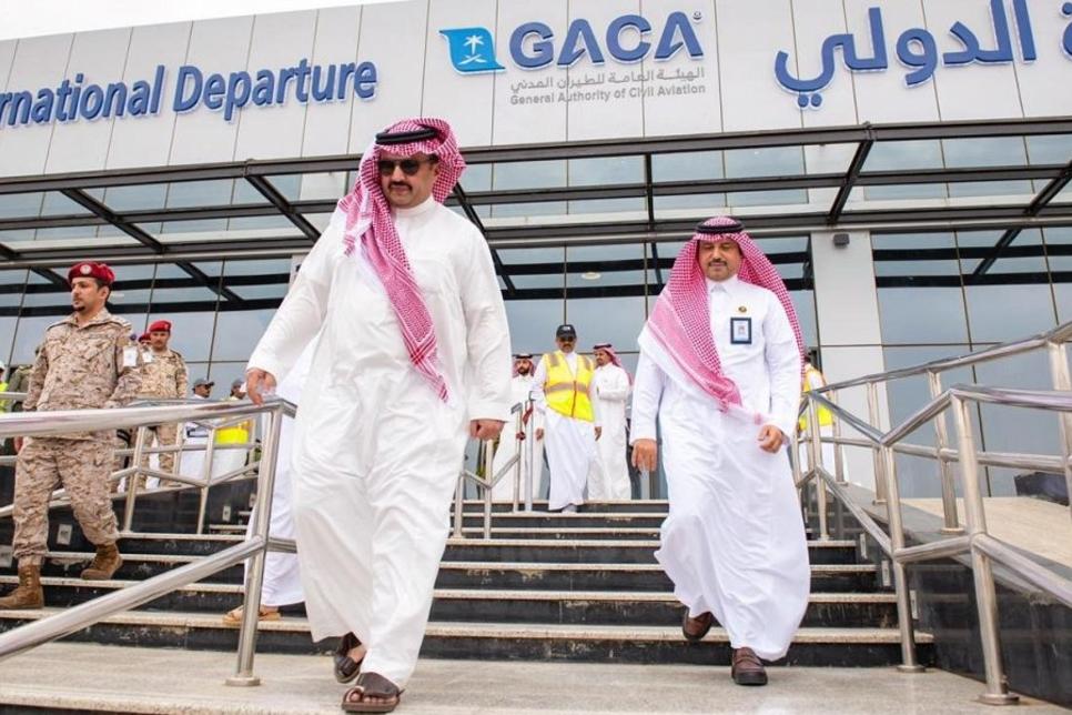 Prince Turki reviews Gaca's Abha International Airport expansion