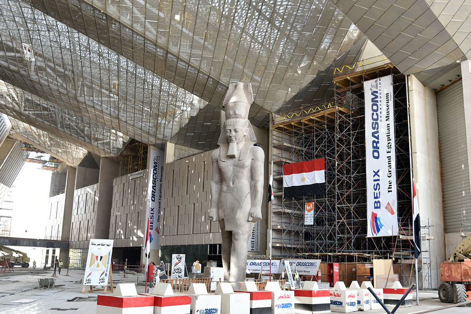 Construction of Grand Egyptian Museum 94.5% complete