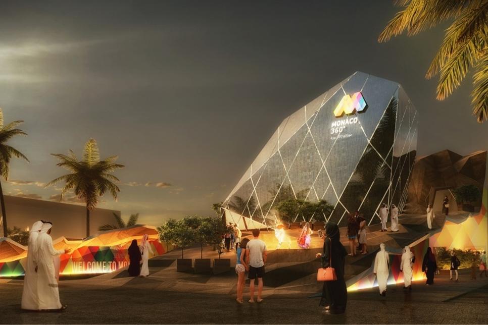 Video: Monaco's gem-shaped polygonal Expo 2020 Dubai Pavilion