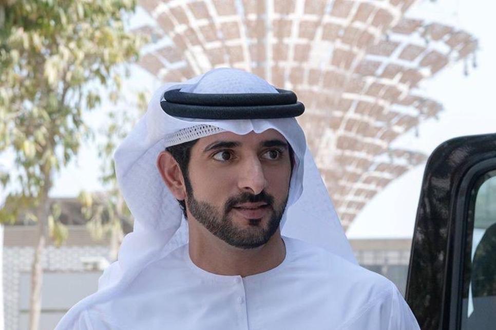 Sheikh Hamdan reviews progress at Expo 2020 Dubai construction site