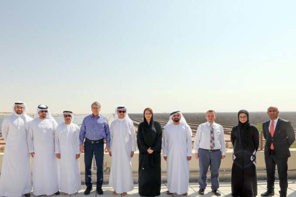 Dewa hosts US energy secretary Rick Perry at MBR Solar Park