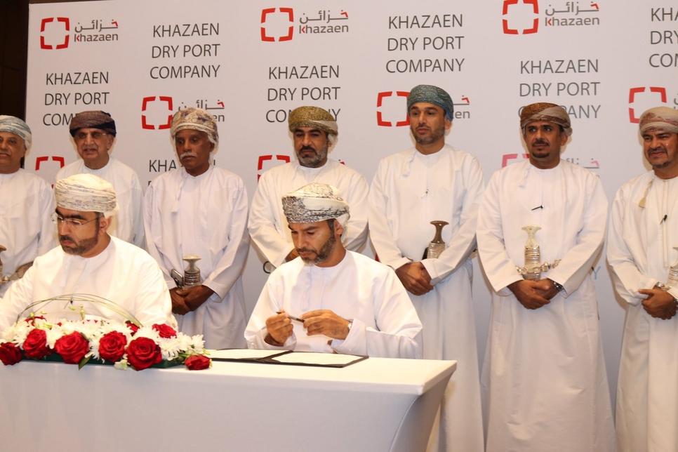 Oman's Khazaen Economic City inks deal to manage 25ha dry port