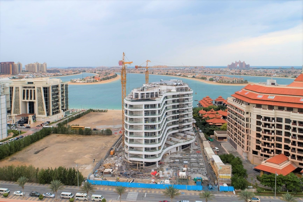Construction on Azizi's Mina in Palm Jumeirah 85% complete