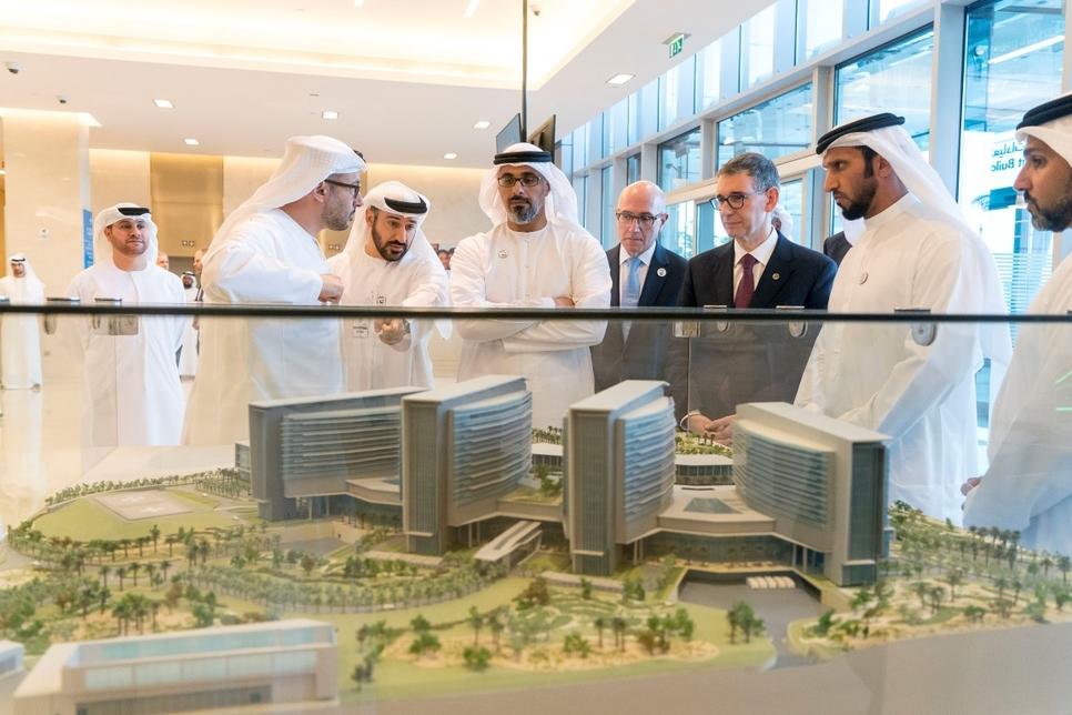 VIDEO: Sheikh Khalid tours UAE's Sheikh Shakhbout Medical City