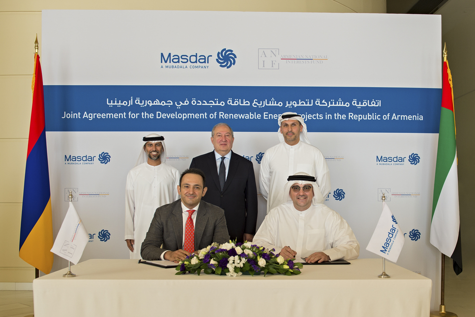 Masdar, ANIF ink deal to develop 400MW solar projects in Armenia
