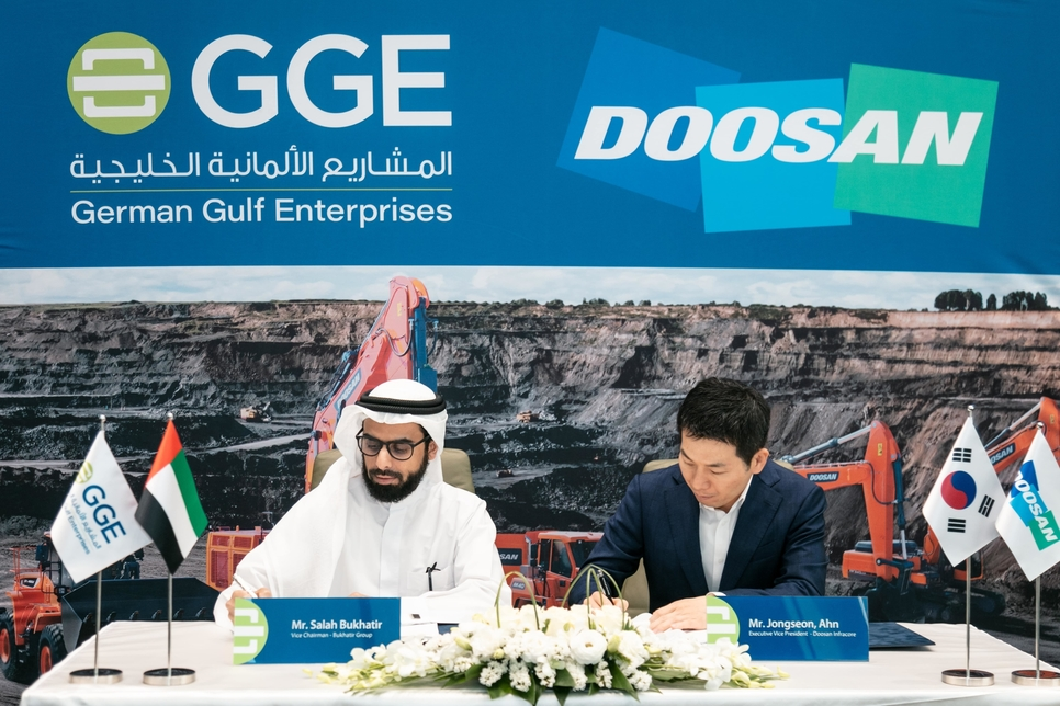 Doosan Infracore partners with Sharjah's German Gulf Enterprises