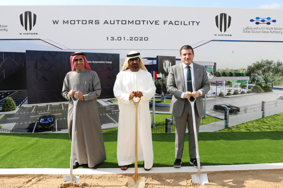 HH Sheikh Ahmed lays foundation stone for W Motors facility in Dubai