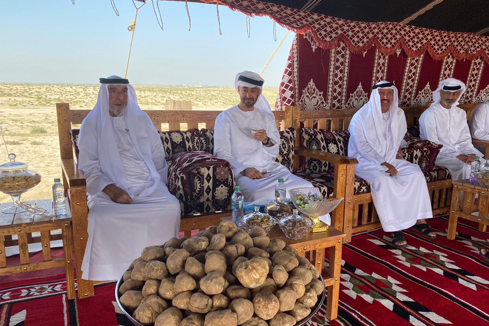 PICTURES: HH Sheikh Khalifa bin Zayed visits Ghanadha reserve forest