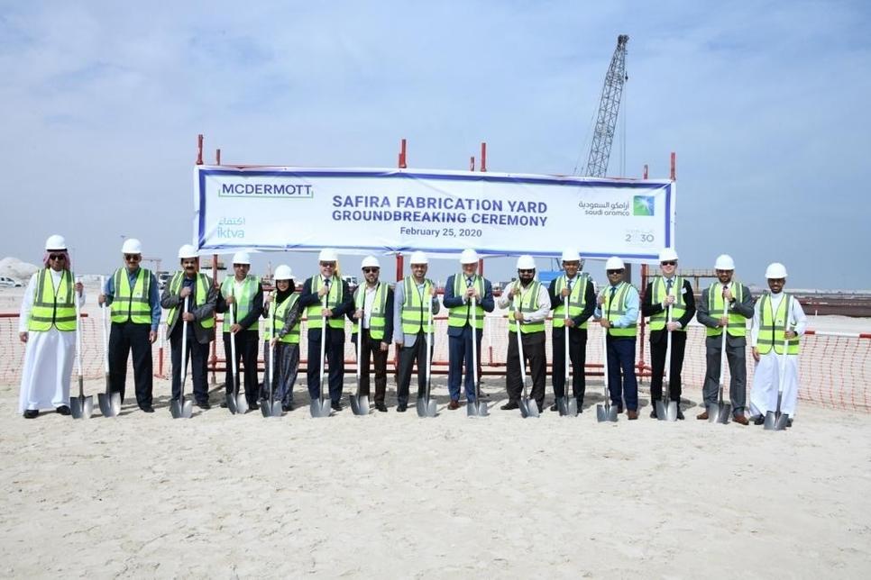 McDermott, Saudi Aramco break ground on SAFIRA fabrication yard