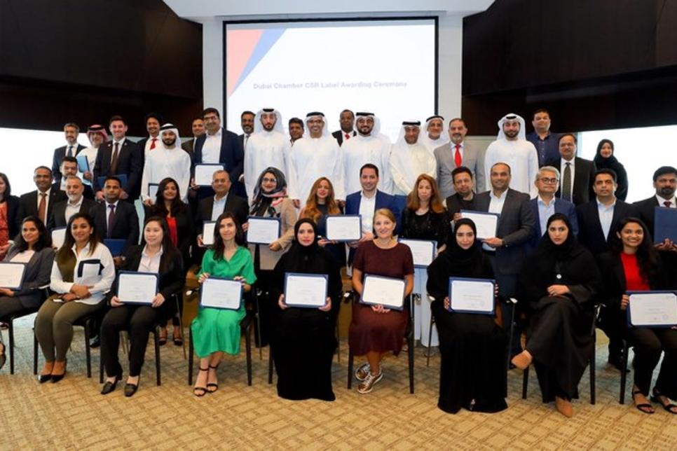 Emrill, Enova, ASGC, receive Dubai Chamber CSR Label