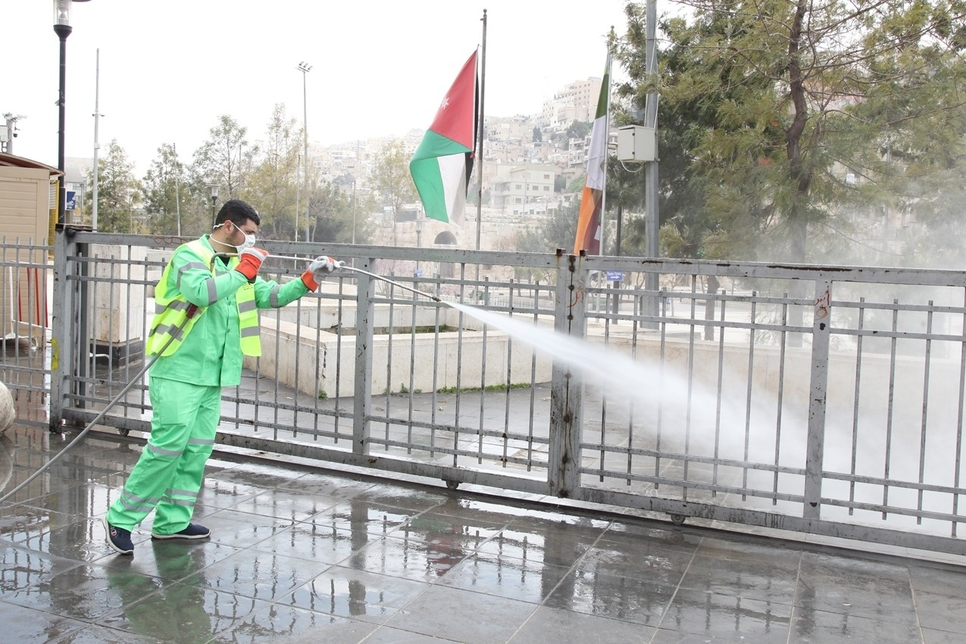 COVID-19: Jordan's GAM carries out disinfection programme in Amman