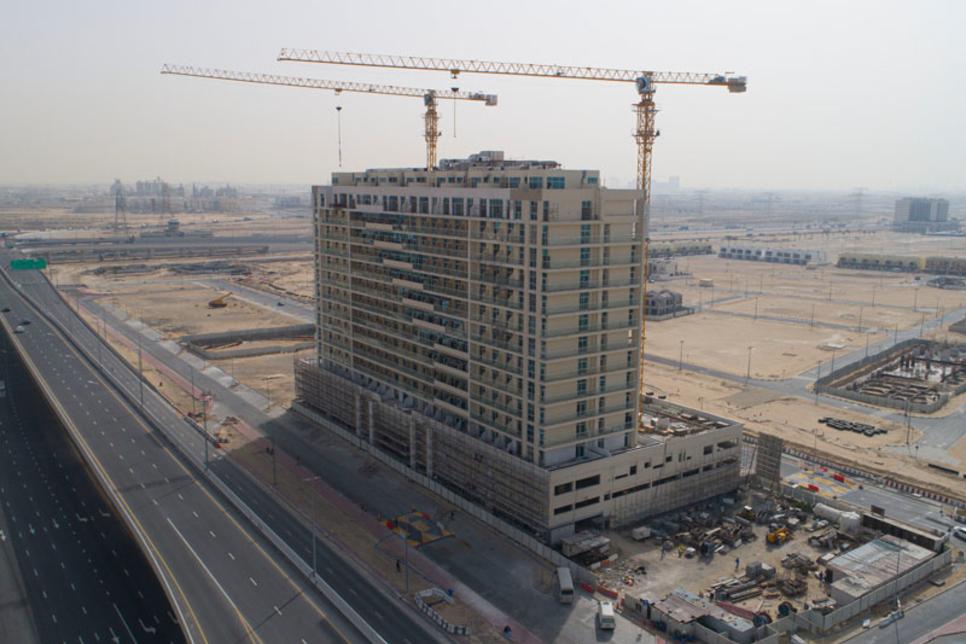 Construction on Dubai's Azizi Plaza residential project reaches 90%
