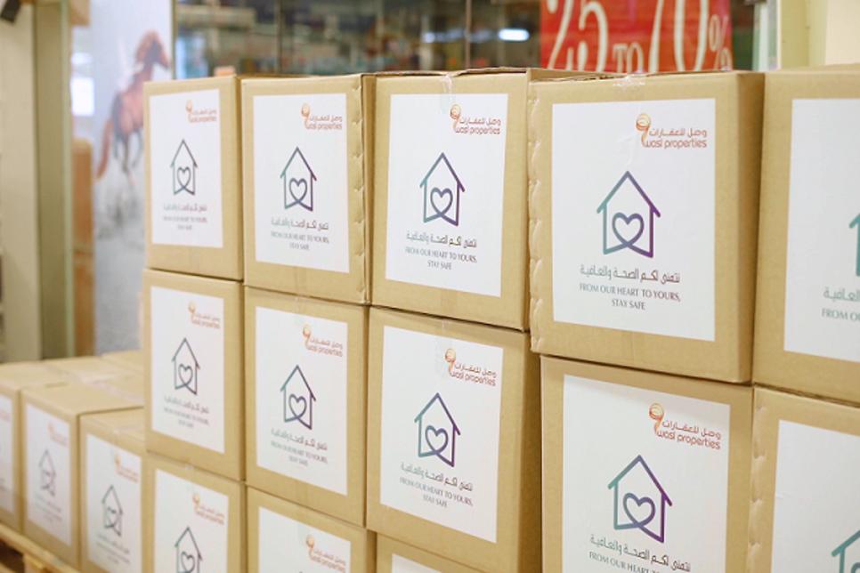 Wasl Properties supplies food boxes to tenants at Dubai's Naif, Al Ras