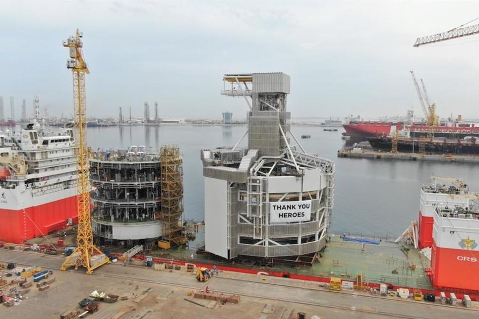 Dubai's Drydocks World completes construction of 8000 tonnes project