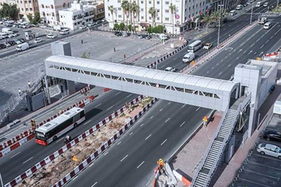 RTA opens footbridges on Khalid Bin Al-Waleed, Al-Maraba streets