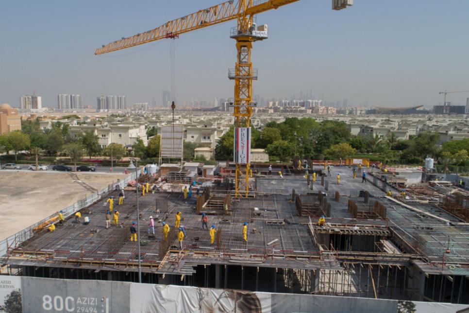 Azizi Developments Berton project reaches 21% completion