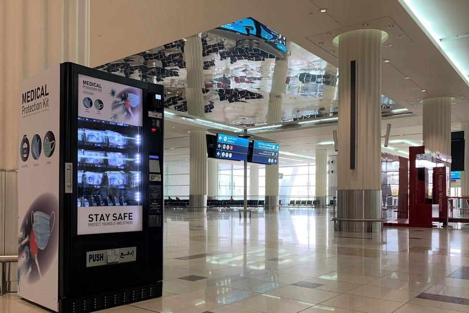 COVID-19: Dubai Airports install PPE kits vending machines