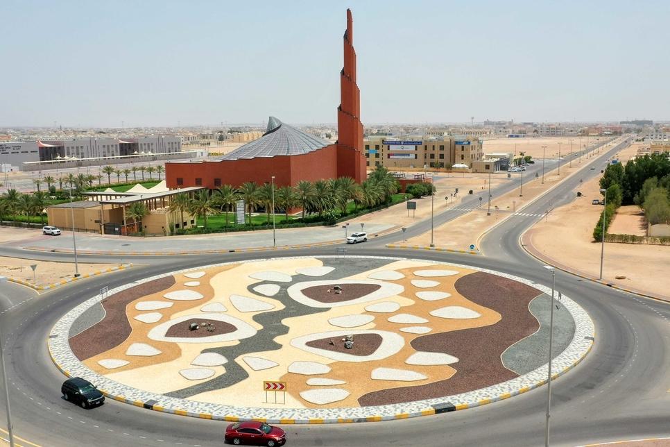 ADM beautifies roundabout near Abu Dhabi's Sheikha Fatima Mosque